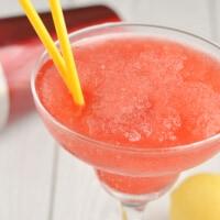 Closeup image of Strawberry Vodka Slush Cocktail