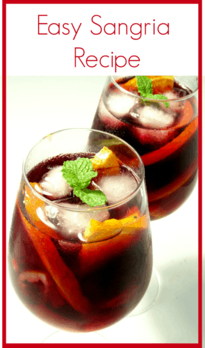Easy sangria recipe for Sangria recipe red wine triple sec