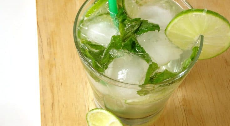 Virgin Mojito Mocktail Recipe - just because you're not drinking alcohol doesn't mean you can't join in with the party! This alcohol-free mocktail is #healthy and #lowcalorie but tastes just as good as the classic cocktail! #cocktail #mocktail #recipe | www.happyhealthymotivated.com