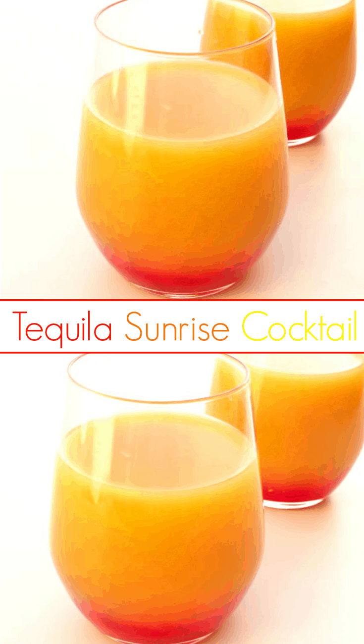 Tequila sunrise cocktail for Drinks you can make with tequila