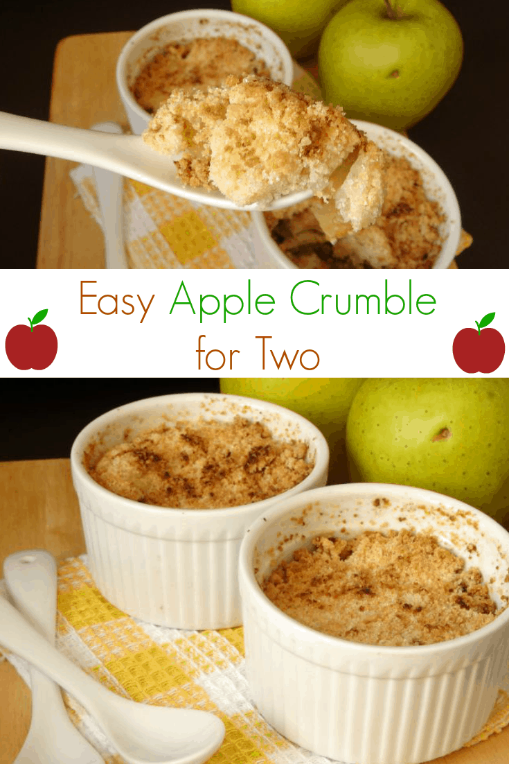 easy apple crumble for two. Black Bedroom Furniture Sets. Home Design Ideas