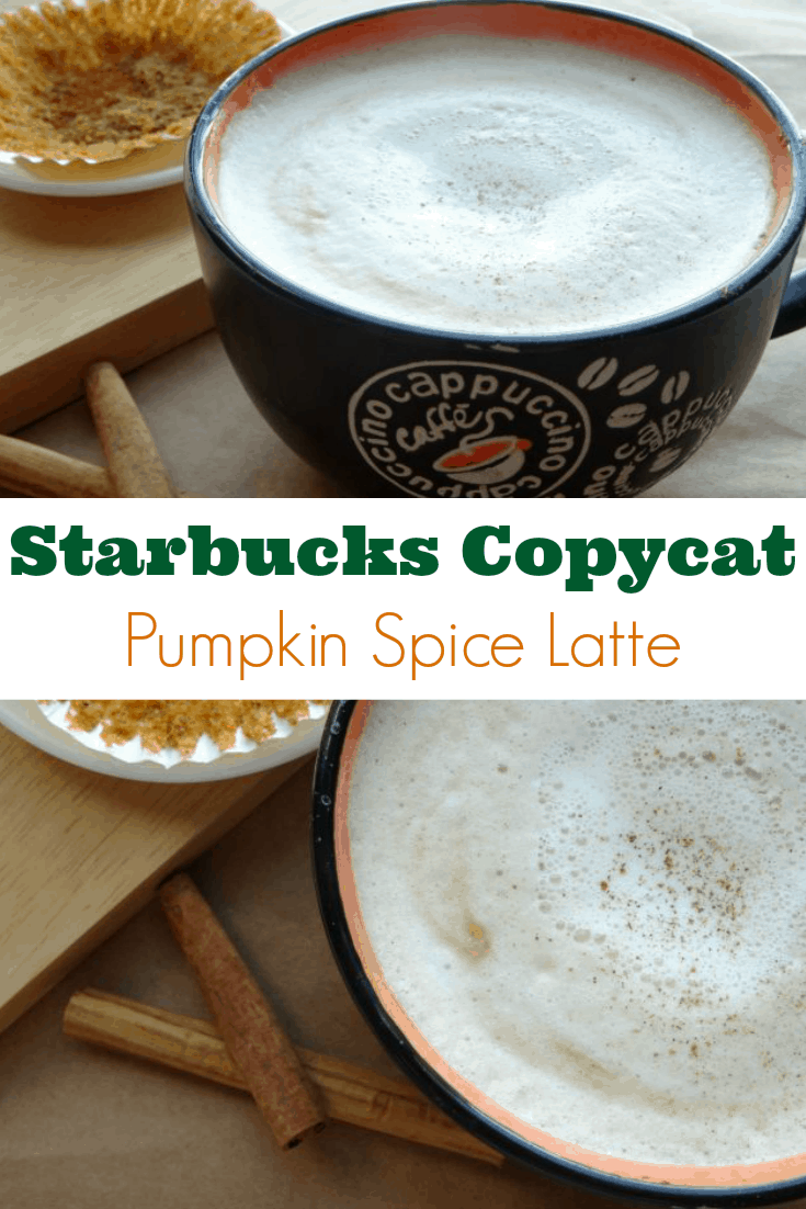 Starbucks Copycat Pumpkin Spice Latte Recipe – forget about paying $$$ for a coffee filled I-don't-even-wanna-know from your local coffee shop, grab together a handful of ingredients and make your own fall-inspired coffee drink at home! It's quick and easy to make, requires only a few ingredients and tastes just like the stuff they serve at Starbucks!   www.happyhealthymotivated.com