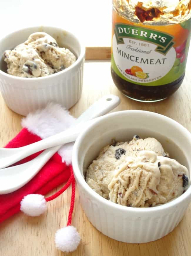 Mince Pie Ice Cream Recipe - Need a way of using up mince pies or mincemeat leftover from Christmas? Then you need this ice cream recipe! | www.happyhealthymotivated.com