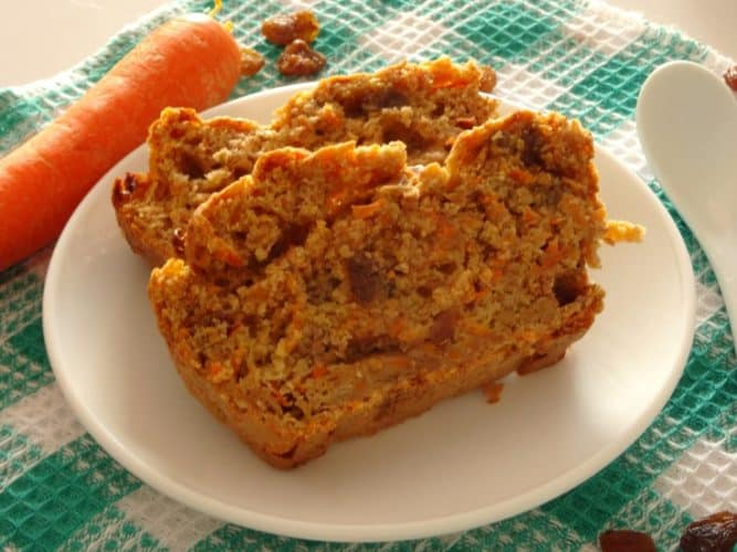 No kidding - this really is the best ever healthy carrot cake! It's made with applesauce and absolutely no added sugar. It's so healthy and delicious you can even eat it for breakfast! Best healthy dessert recipe ever!