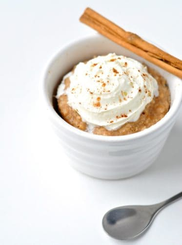Healthy Cinnamon Roll Mug Cake Recipe
