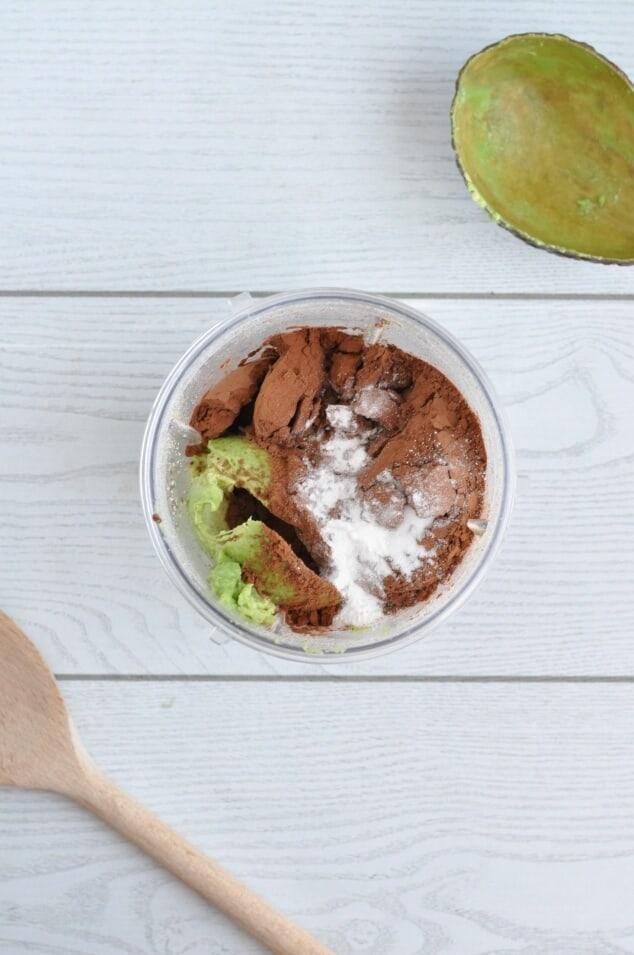 The ingredients for Healthy Vegan Brownies in a NutriBullet