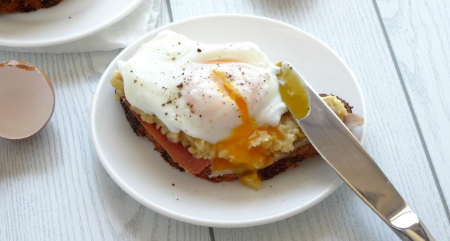 Ham, Smashed Chickpea and Poached Egg Breakfast Toasts Recipe. This amazing breakfast dish is totally gourmet but surprisingly easy to make! You can whip it up quickly for yourself on a weekday or even serve it to friends and family as a fancy weekend brunch! Seriously - this is like something you'd get at a speciality restaurant - not your own kitchen!!