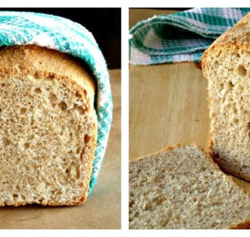 A collage of my healthy whole wheat bread recipe