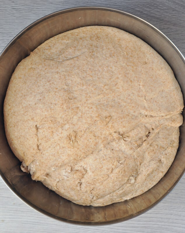 Bread dough that's been left to rise