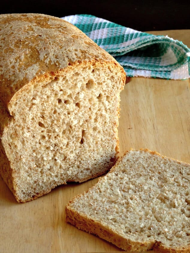 The loaf you'll get from my healthy whole wheat bread recipe