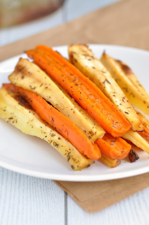 The Most Amazing Honey Roasted Carrots and Parsnips