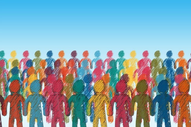 What is IBS? | A drawing of multicoloured people.