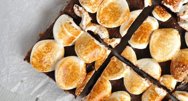 Healthy S'mores Brownies   Low FODMAP Recipes   Low FODMAP Snacks   Low FODMAP Desserts