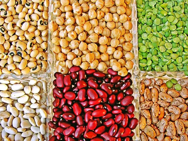 IBS trigger foods - selection of beans and legumes