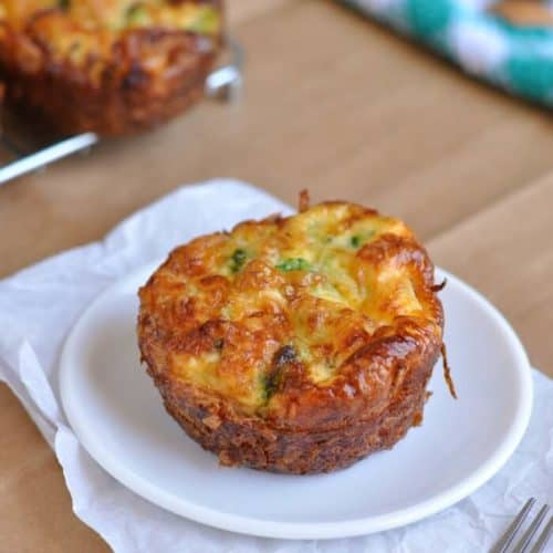 Index image for Healthy hash brown egg cups