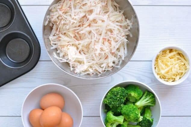 Ingredients needed for Healthy hash brown egg cups
