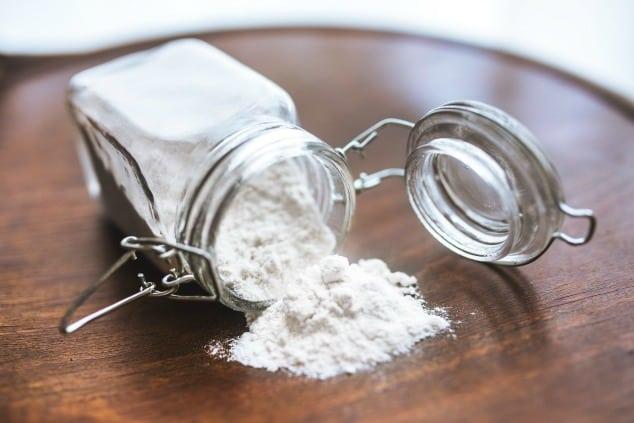A jar of gluten-free flour