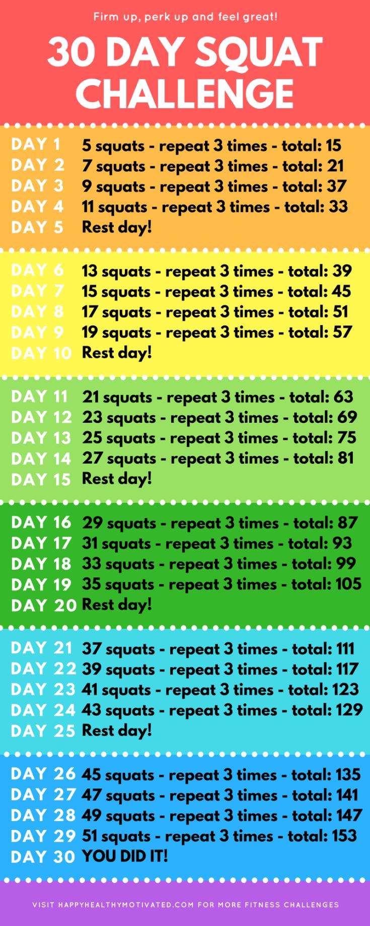 30 day squat challenge beginner squat challenge. Black Bedroom Furniture Sets. Home Design Ideas