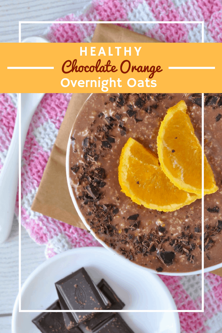 Healthy Chocolate Orange Overnight Oats | These healthy overnight oats are so rich and creamy they taste like dessert! The perfect healthy breakfast recipe when you don't have time to cook, they only take 5 minutes of prep to make and are ready and waiting for you in the morning. #HealthyBreakfast #OvernightOats #OvernightOatsRecipe #HealthyBreakfastRecipe #HealthyOvernightOats #HealthyOvernightOatsRecipe #GlutenFree #EasyHealthyBreakfast