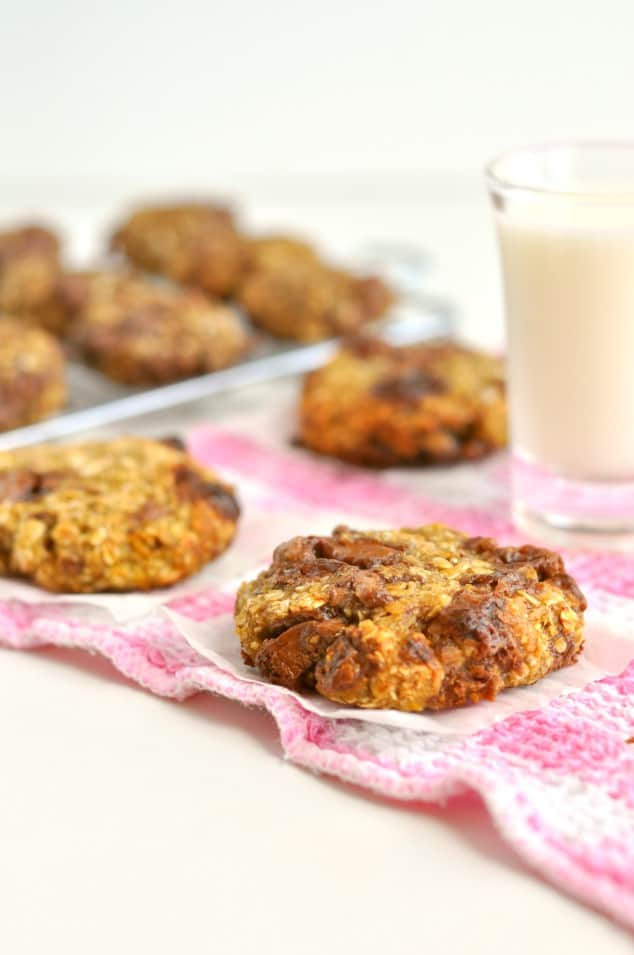 Lots of yummy-looking 3 ingredient banana cookies