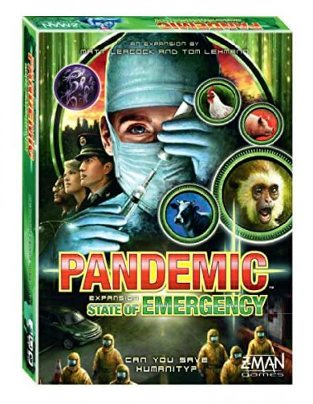 The board game Pandemic State of Emergency