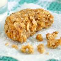1 healthy carrot cake cookie that's been partially eaten