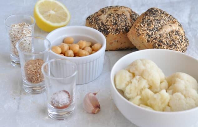 Ingredients needed for Moroccan Vegan Burger Recipe